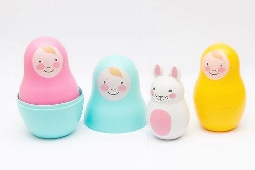 Rosa & Bo Rainbow Nesting babies