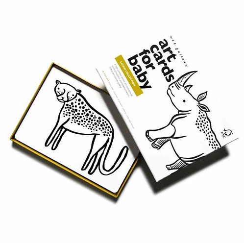Wee Gallery Baby Art Cards - Safari