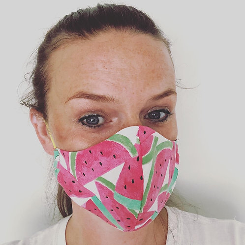 Ladies watermelon face cover