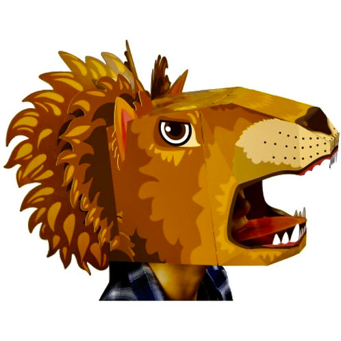 Lion cardboard Head Mask
