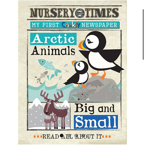 Nursery Times Crinkly Newspaper - Arctic Big & Small