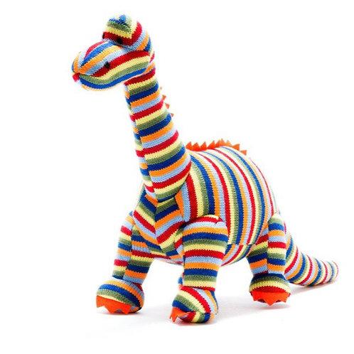 Medium Knitted rainbow Diplodocus