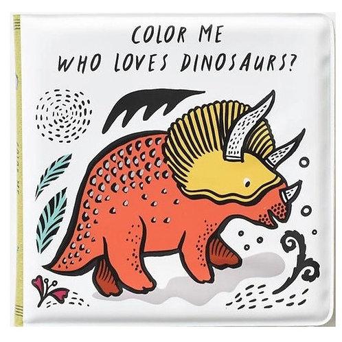 Wee gallery colour me dinosaur bath book