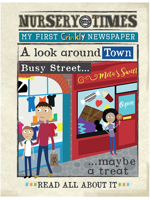 Crinkly Cloth Nursery Times newspaper 'A look around Town'
