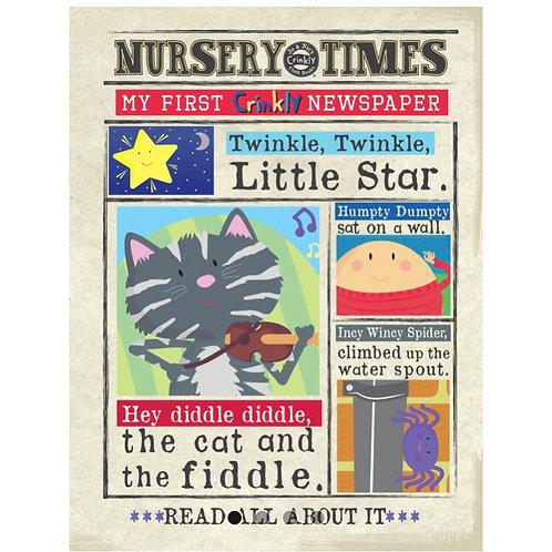 Nursery Times Crinkly Newspaper - Nursery Rhymes