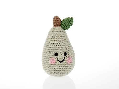 Pebble knitted Pear rattle