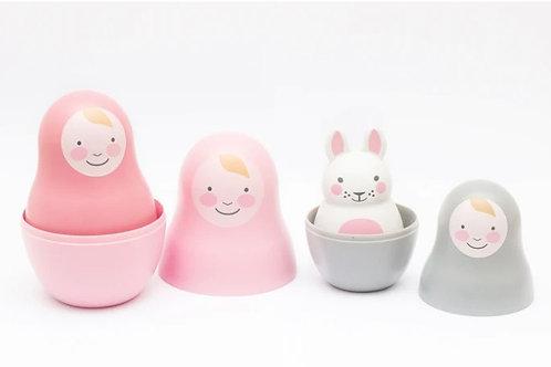 Rosa & Bo Pink Nesting babies