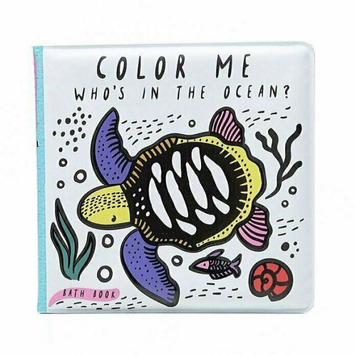 Wee gallery Colour Me Bath Book - Ocean