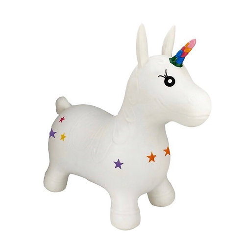 Rainbow unicorn happy hopperz
