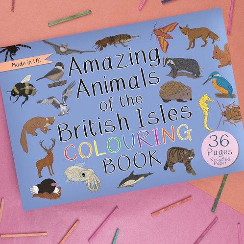 Amazing animals of the British Isles colouring book