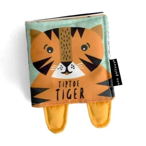 Wee Gallery Tip Toe Tiger soft cloth book