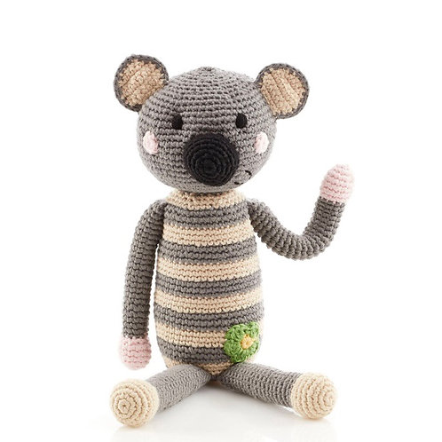 Pebble Knitted Koala rattle