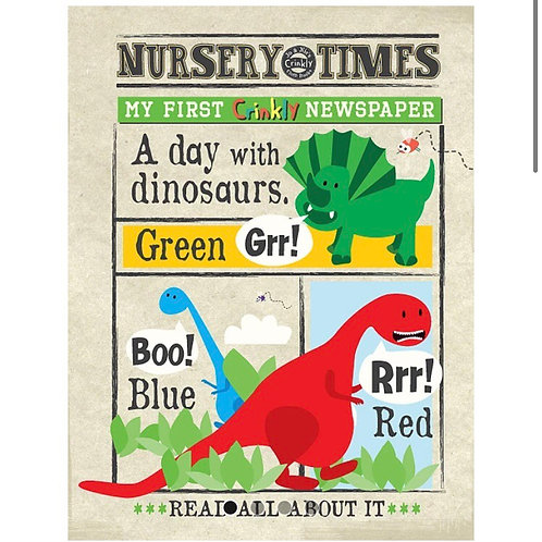 Nursery Times Crinkly Newspaper - Dinosaurs