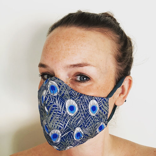 Ladies face cover in peacock