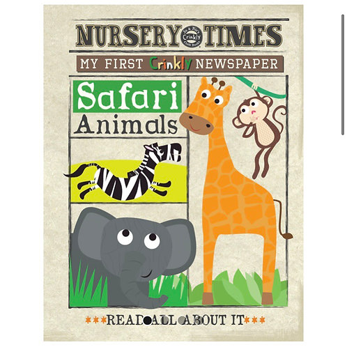 Nursery Times Crinkly Newspaper - Safari