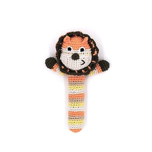 Pebble lion stick rattle