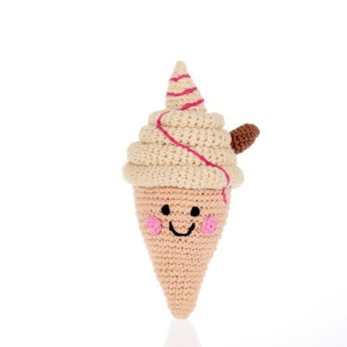 Pebble knitted 99 icecream rattle