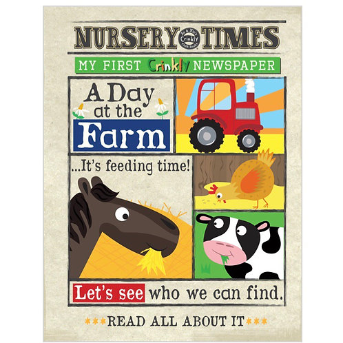 Nursery Times crinkly newspaper - A Day at the Farm