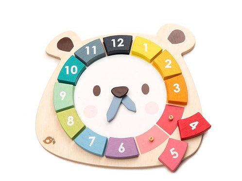 Tender leaf Bear Clock