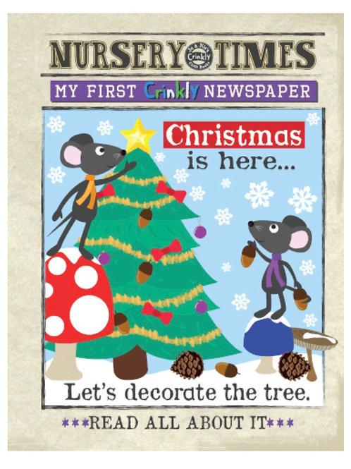 Nursery Times Crinkly Newspaper - Christmas is Here
