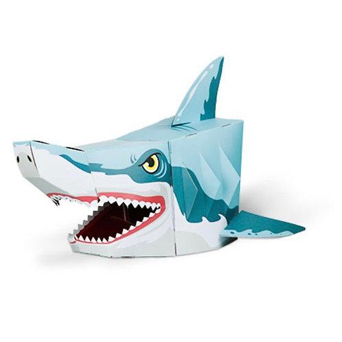 3D card craft mask Shark head