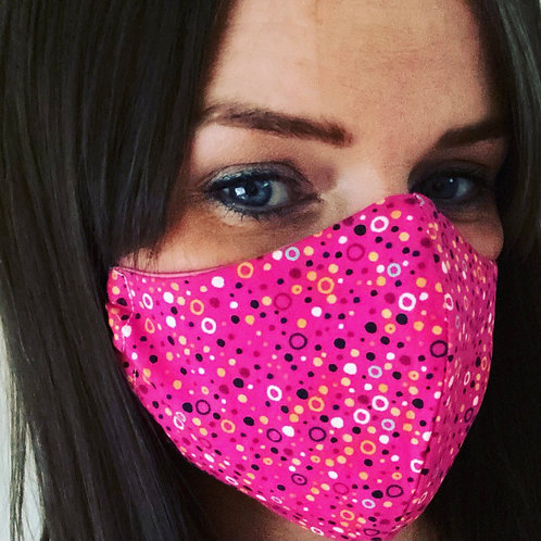 Ladies Face Cover pink dot
