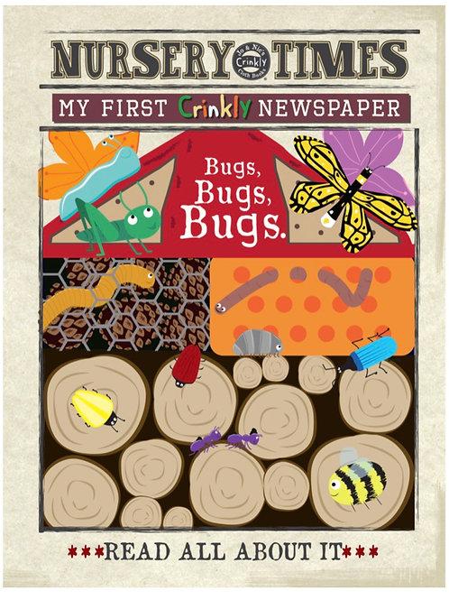 Nursery Times Crinkly Newspaper - Bugs