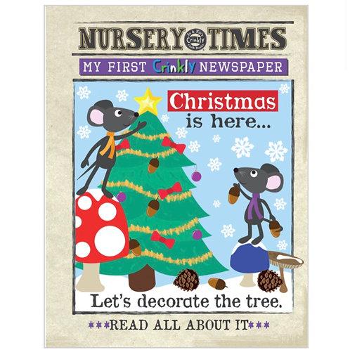 Nursery Times Crinkly Newspaper - Christmas