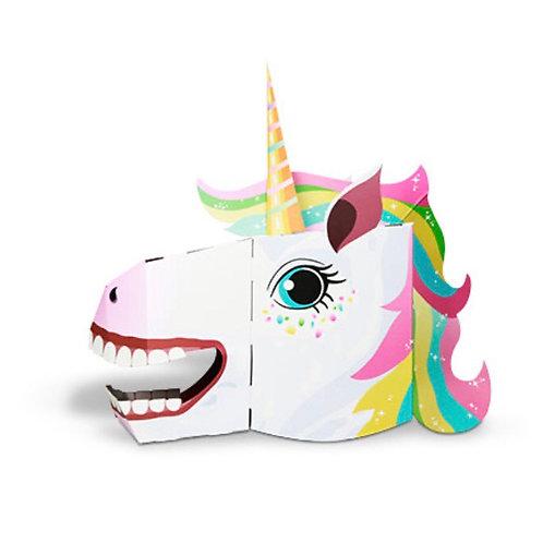 3D card craft mask Unicorn head