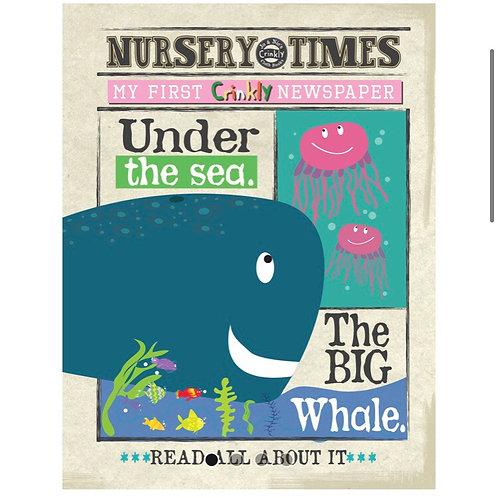 Nursery Times Crinkly Newspaper - Under the Sea