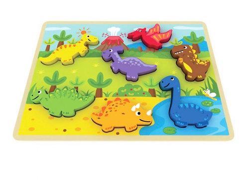 Chunky dinosaur puzzle