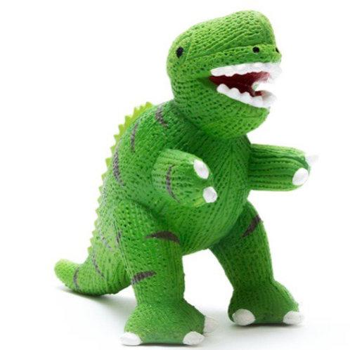 My first T Rex natural rubber dinosaur