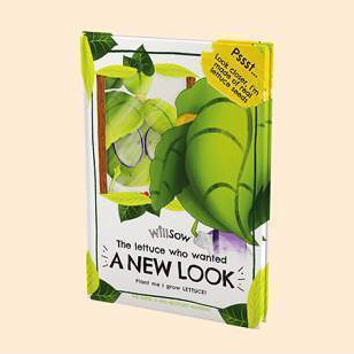 Willsow The Lettuce who wanted a New Look plantable book