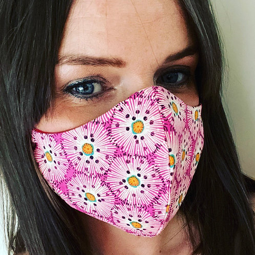 Ladies face cover pink flower