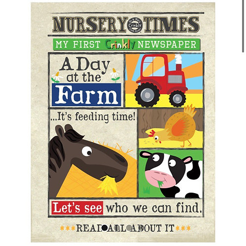 Nursery Times Crinkly Newspaper - Around thr Farm
