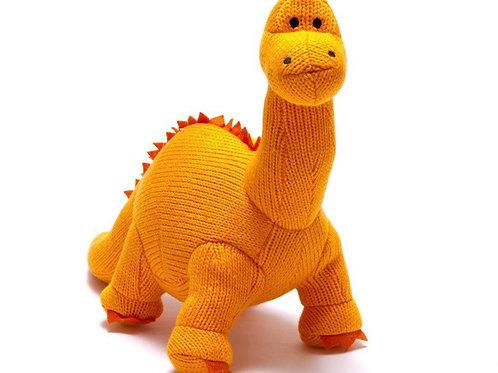 Medium Knitted Orange Diplodocus
