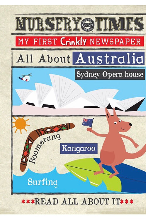 Crinkly Cloth Nursery Times  'All about Australia'