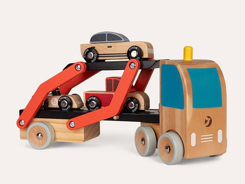 Classic World Transporter with 3 wooden cars
