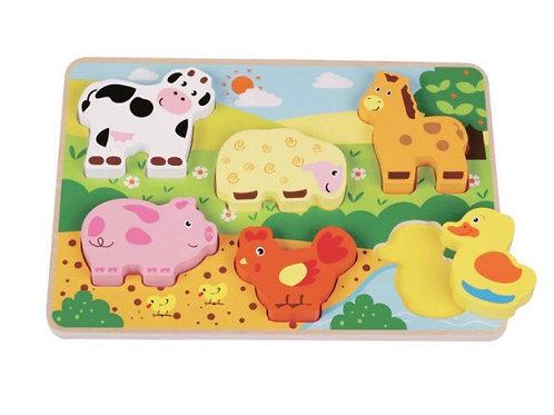 Chunky farmyard puzzle