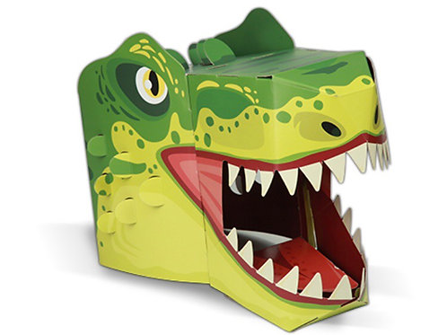 3D card craft mask T Rex head