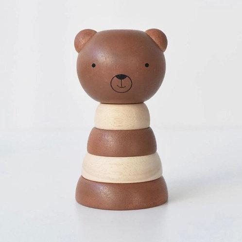 wee gallery wooden stacker - bear