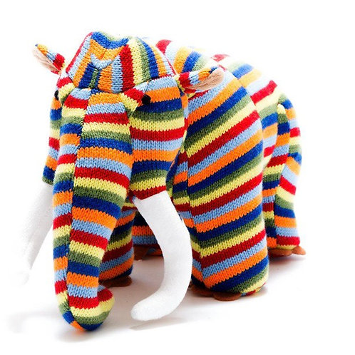 Medium knitted rainbow Mammoth