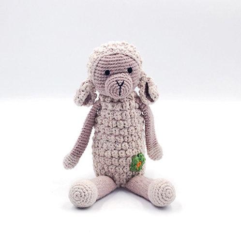 Pebble knitted lamb