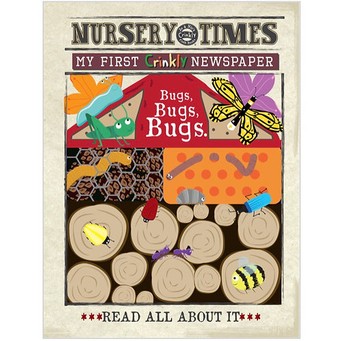 Nursery Times Crinkly Newspaper - Bugs, Bugs, Bugs