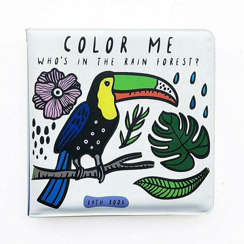 Wee Gallery Colour Me bath book - Rain Forest