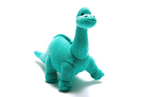 Dino knitted rattles