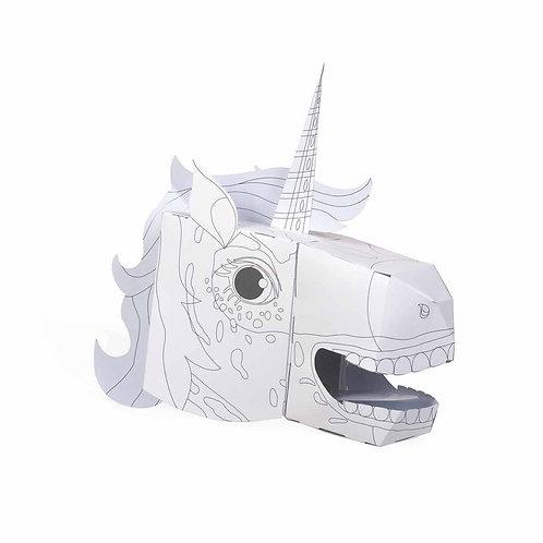 Colour in Unicorn head mask