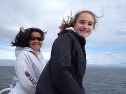 Girls on ferry