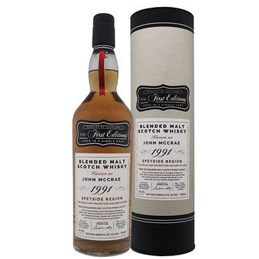 1991 The First Editions John Mccrae 26y首席麥克雷26年蘇格蘭原桶強度調和麥威士忌