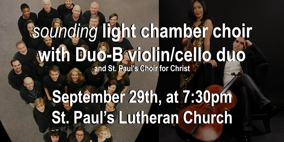 Duo-B with Sound light chamber choir